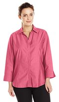 Foxcroft Women's Plus-Size Taylor Essential Blouse