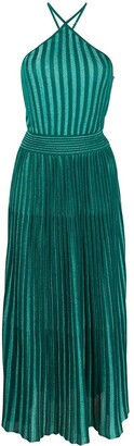 Missoni Pleated Metallic Knit Dress
