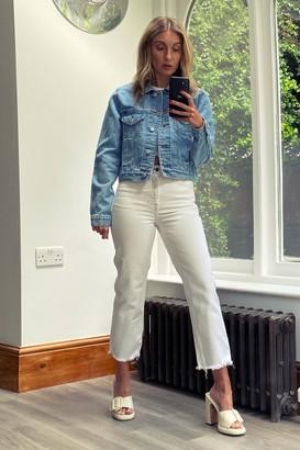 Topshop Womens Petite Mid Stone Denim Jacket - Stone