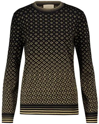 Gucci GG jacquard wool-blend sweater