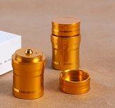 Edealing 1X Mini Gold Alcohol Lamp Aluminum Light Lighting Cigarette Hookah Accessories Kit 10ML