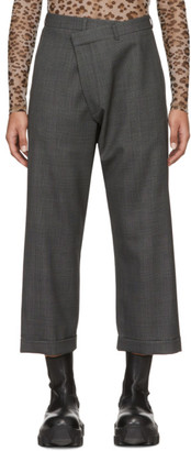 R 13 Grey Check Crossover Trousers