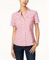 Karen Scott Printed Cotton Shirt, Only at Macy's