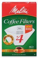 Melitta Super Premium 40-Count #4 Cone Coffee Filters with Measure Markings