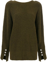 3.1 Phillip Lim V-back sweater - women - Polyamide/Spandex/Elastane/Wool/Yak - S