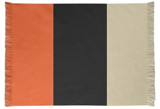 San Francisco Striped Orange/Black/Cream Area Rug East Urban Home Non-Skid Pad Included: No