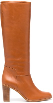 A.P.C. Straight-Leg Leather Boots
