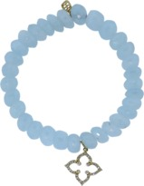 Sydney Evan Diamond Moroccan Star Aquamarine Beaded Bracelet