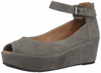 Gentle Souls Women's Nyssa 2 Peep Toe Wedge Pump