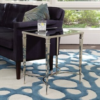 Global Views French End Table Table Top Color: Nickel
