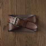 Rugby Double-Prong Leather Belt