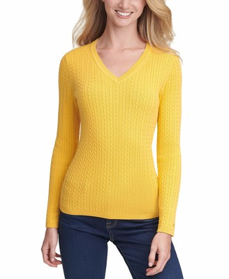 Tommy Hilfiger Women's Classic Fit V-Neck Sweater