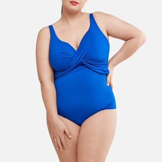 La Redoute Collections Plus Bodyshaping Twist Front Swimsuit