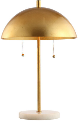 Jonathan Y Designs Ella 20.7In Dome Metal With Marble Base Led Table Lamp