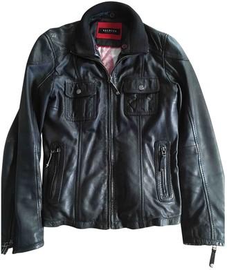 Oakwood Black Leather Leather Jacket for Women