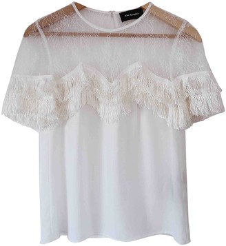 The Kooples Spring Summer 2019 White Lace Top for Women