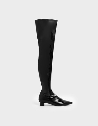 Charles & KeithCharles & Keith Thigh High Patent Boots
