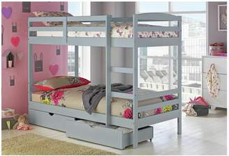 Josie Argos Home Grey Bunk Bed with Drawers