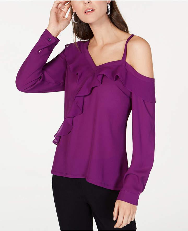 faa33fec1f1 Purple Cold Shoulder Top - ShopStyle