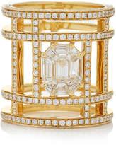As 29 AS29 Illusion Diamond & 18K Yellow Gold Tube Ring