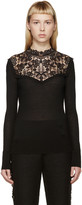 Erdem Black Knit Lace Clem Sweater