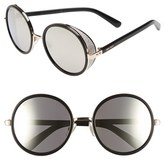 Jimmy Choo Women's 'Andies' 54Mm Round Sunglasses - Rose Gold/ Shiny Black