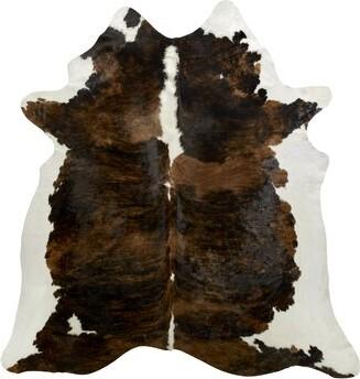 Saddlemans Animal Print Handmade Cowhide Brown/Ivory Area Rug Rug Size: Novelty 6' x 6'