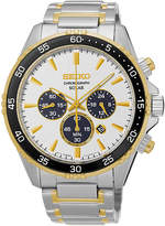 Seiko Mens Two-Tone Chronograph Bracelet Watch SSC446