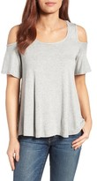 Bobeau Women's Cold Shoulder Tee