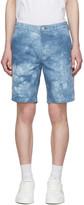Paul Smith Blue Denim Tie-Dye Shorts