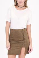 onetheland Tie Mini Skirt