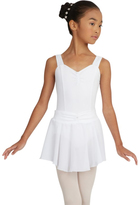 Capezio White Georgette Pull-On Skirt - Toddler & Girls