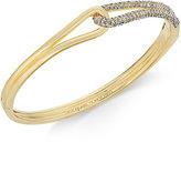 Kate Spade Gold-Tone Pavé Loop Bangle Bracelet