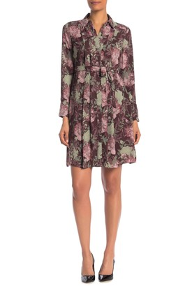 Nanette Lepore Floral Pleated Waist Tie Dress