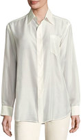 Ralph Lauren Damien Cotton Voile Blouse, Cream
