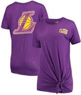 New Era Women's Purple Los Angeles Lakers Side-Tie Slub T-Shirt