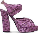 Erdem Keanna jacquard platform sandals