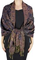Peach Couture Reversible Exclusive Paisley Pashmina Shawl Wrap Red Black
