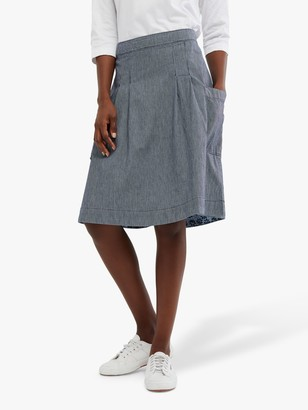 White Stuff Charlie Stripe Cotton Skirt, Navy/White