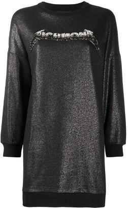 John Richmond Long Metallic Logo-Embellished Sweatshirt