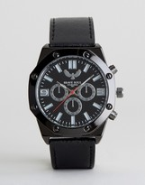 Brave Soul Black Watch With Imitation Inner Dials