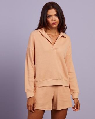 Nude Lucy Women's Neutrals Sweats - Uma Waffle Rugby Top - Size XS at The Iconic
