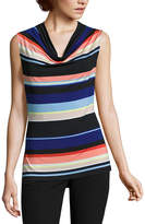 WORTHINGTON Worthington Sleeveless Cowlneck Top