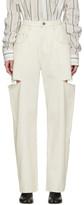 Maison Margiela Off-White Thigh Slit Jeans