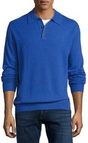 Neiman Marcus Cashmere Polo Sweater, Royal