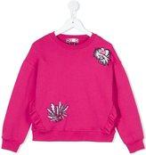 MSGM embroidered sweatshirt
