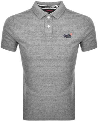 Superdry Classic Polo T Shirt Grey