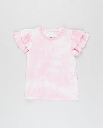 Cotton On Girl's Pink Short Sleeve Tops - Fleur Flutter Sleeve Top - Kids - Size 7 YRS at The Iconic
