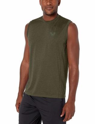 Peak Velocity Amazon Brand Men's Tech-Stretch Sleeveless Quick-Dry Loose-Fit T-Shirt
