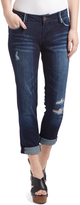 Dollhouse Moody Blue Distressed Straight-Leg Jeans